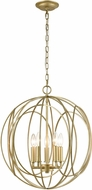 ELK 33416-5 Loughton Modern Golden Silver 20  Hanging Lamp