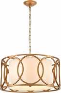 ELK 33425-4 Ringlets Modern Golden Silver Drum Hanging Light