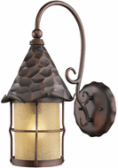 ELK 385-AC Rustica Traditional Antique Copper Exterior Wall Sconce Lighting