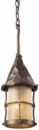 ELK 388-AC Rustica Traditional Antique Copper Outdoor Hanging Light Fixture