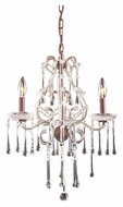 ELK 4011/3CL Opulence 17 Inch Diameter Clear Crystal Rust Candle Chandelier