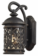 ELK 42060/1 Tuscany Coast 14 Inch Tall Clear Seeded Glass Small Outdoor Wall Lighting