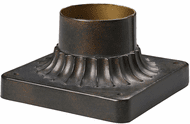 ELK 43003HB Outdoor Accessories Hazelnut Bronze Outdoor Post Mount