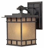 ELK 45012/1 Newlton 17 Inch Tall Weathered Charcoal Outdoor Wall Sconce - Large