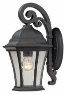 ELK 45050/1 Wellington Park 14 Inch Tall Weathered Charcoal Small Exterior Sconce