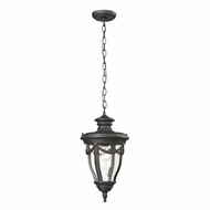 ELK 45078-1 Anise Traditional Textured Matte Black Exterior Pendant Light