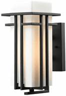 ELK 45085/1-LED Croftwell Contemporary Textured Matte Black LED Outdoor 6 Wall Sconce