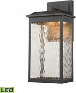 ELK 45201-LED Newcastle Contemporary Textured Matte Black LED Outdoor Sconce Lighting