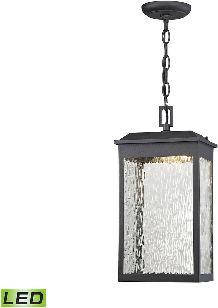 Elk 45203 Led Newcastle Contemporary Textured Matte Black Outdoor Pendant Lighting