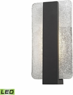 ELK 45230-LED Pierre Contemporary Textured Matte Black LED Outdoor Lamp Sconce