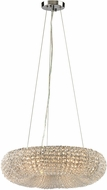 ELK 45291-6 Crystal Ring Polished Chrome 18  Drop Ceiling Lighting