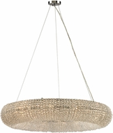 ELK 45293-12 Crystal Ring Polished Chrome 37  Drop Lighting Fixture