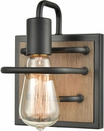 ELK 45483-1 Copley Contemporary Matte Black / Aspen Lamp Sconce