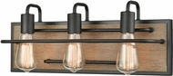 ELK 45485-3 Copley Contemporary Matte Black / Aspen 3-Light Bath Lighting