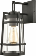 ELK 45490-1 Crofton Modern Charcoal Outdoor 7  Wall Sconce Lighting