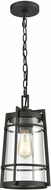 ELK 45493-1 Crofton Contemporary Charcoal Exterior Hanging Pendant Light