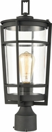 ELK 45494-1 Crofton Contemporary Charcoal Outdoor Post Light