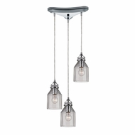 ELK 46019-3 Danica Modern Polished Chrome Multi Pendant Lighting