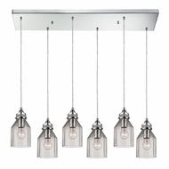 ELK 46019-6RC Danica Modern Polished Chrome Multi Lighting Pendant