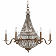 ELK 46049-8-6 Empire Mocha Hanging Chandelier