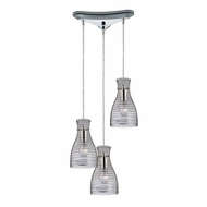 ELK 46107-3 Strata Modern Polished Chrome Multi Hanging Pendant Lighting