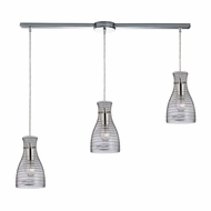 ELK 46107-3L Strata Contemporary Polished Chrome Multi Hanging Pendant Light