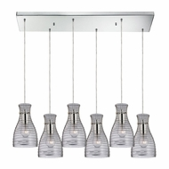 ELK 46107-6RC Strata Modern Polished Chrome Multi Pendant Hanging Light