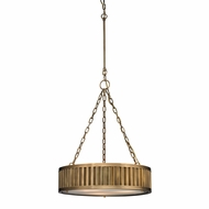 ELK 46124-3 Linden Aged Brass Drum Drop Lighting Fixture