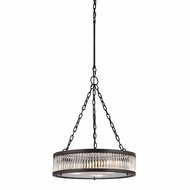 ELK 46135-3 Linden Oil Rubbed Bronze Drum Pendant Lighting Fixture