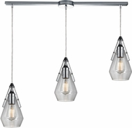 ELK 46171-3L Duncan Contemporary Polished Chrome Multi Drop Lighting