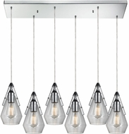 ELK 46171-6RC Duncan Modern Polished Chrome Multi Drop Ceiling Lighting