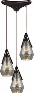 ELK 46172-3 Duncan Modern Oil Rubbed Bronze Multi Ceiling Pendant Light