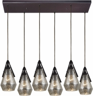 ELK 46172-6RC Duncan Contemporary Oil Rubbed Bronze Multi Pendant Lighting
