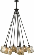 ELK 46183-9 Watercube Contemporary Oil Rubbed Bronze Multi Pendant Lamp