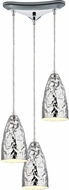 ELK 46210-3 Hammersmith Modern Polished Chrome Multi Hanging Pendant Light