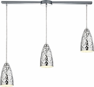 ELK 46210-3L Hammersmith Contemporary Polished Chrome Multi Pendant Hanging Light