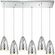 ELK 46210-6RC Hammersmith Modern Polished Chrome Multi Hanging Light Fixture