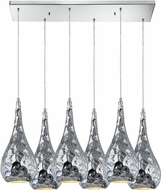 ELK 46213-6RC Hammersmith Modern Polished Chrome Multi Drop Lighting Fixture