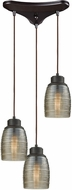 ELK 46216-3 Muncie Contemporary Oil Rubbed Bronze Multi Pendant Lighting Fixture