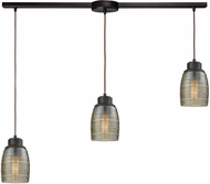 ELK 46216-3L Muncie Modern Oil Rubbed Bronze Multi Hanging Pendant Lighting