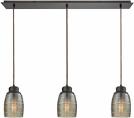 ELK 46216-3LP Muncie Contemporary Oil Rubbed Bronze Multi Hanging Pendant Light