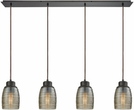 ELK 46216-4LP Muncie Modern Oil Rubbed Bronze Multi Pendant Hanging Light