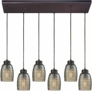 ELK 46216-6RC Muncie Contemporary Oil Rubbed Bronze Multi Hanging Light Fixture