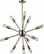 ELK 46244-12 Delphine Contemporary Satin Brass 27  Chandelier Lighting