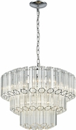 ELK 46312-4 Carrington Modern Polished Chrome 20  Drop Lighting