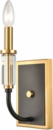 ELK 46340-1 Glendon Matte Black / Burnished Brass Wall Mounted Lamp
