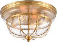 ELK 46574-2 Manhattan Boutique Contemporary Brushed Brass Flush Mount Light Fixture