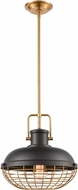 ELK 46585-1 Nostalgia Contemporary Matte Black / Brushed Brass Pendant Lighting