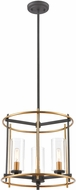 ELK 46653-3 Millington Contemporary Charcoal / Brushed Brass Entryway Light Fixture
