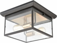 ELK 46683-2 Knowlton Contemporary Matte Black / Brushed Brass Exterior Flush Ceiling Light Fixture